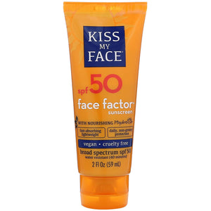 Face Factor 50 SPF Sunscreen - Kiss My Face