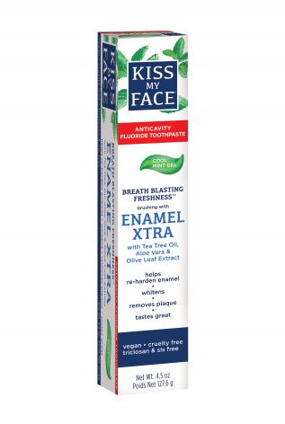 Enamel Xtra Cool Mint Gel With Fluoride - Kiss My Face