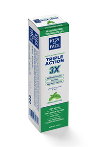 Triple Action Cool Mint Gel Fluoride Free Toothpaste