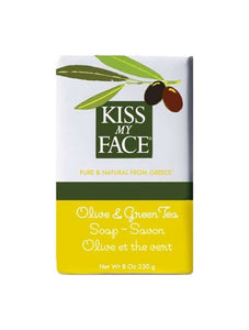 Olive & Green Tea Bar Soap - Kiss My Face