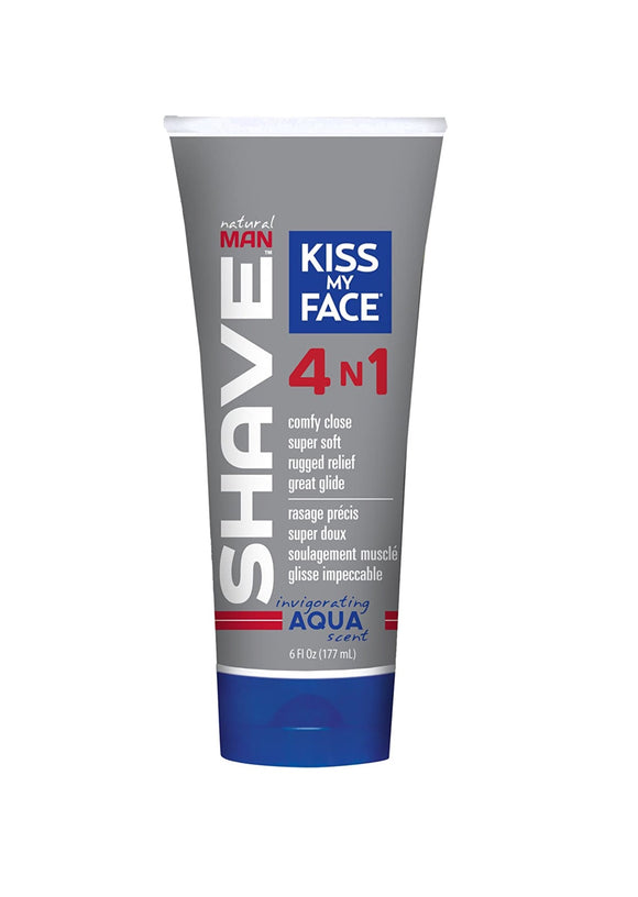 Natural Man Aqua 4 In 1 Moisture Shave Cream - Kiss My Face