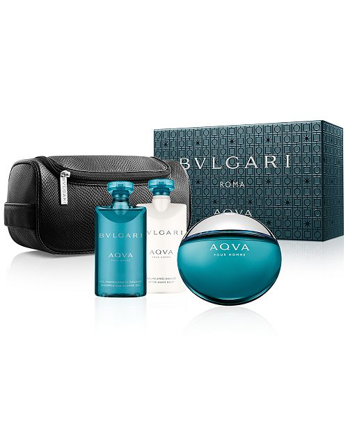 Bvlgari AQVA Pour Homme 4 Piece Gift Set by Bvlgari 4 for Men