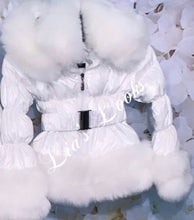 Load image into Gallery viewer, CHILDREN'S - Ice white Romani Coat (Faux Fur)