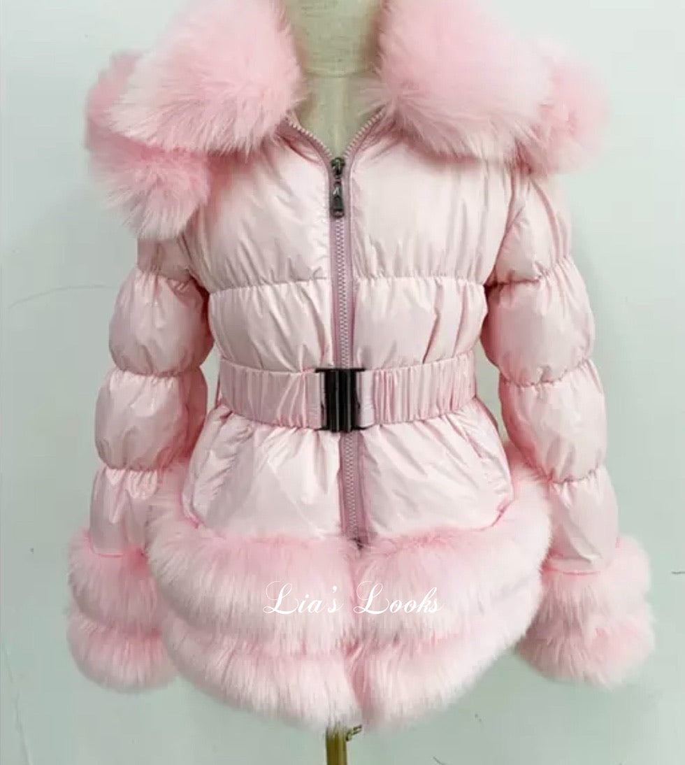 CHILDREN'S - Candy Floss Romani Coat (Faux Fur)
