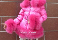 Load image into Gallery viewer, CHILDREN'S - Hot Pink Romani Coat (Faux Fur)