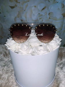Brown Stud Sunglasses