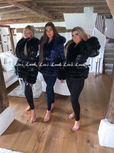 Load image into Gallery viewer, Midnight Blue Romani Coat (Faux Fur)