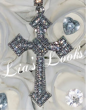 Load image into Gallery viewer, Bling Cross Necklace