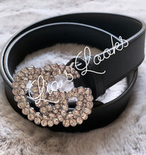 Load image into Gallery viewer, 'G' Diamanté Rhinestone Buckle Belt