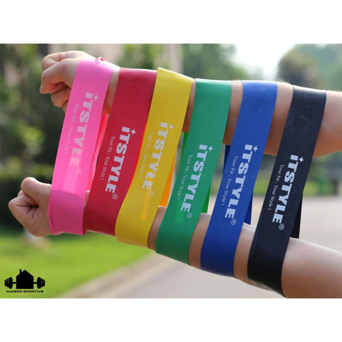 bras-fitness-sport-resistance-loop-bands-pack-resistance-bands-couleurs-vert-bleu-jaune-rouge-noir-categorie-logo