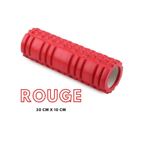 rouge-rouleau-massage-foam-roller-black-roll-trigger-point-physiotherapie-recuperation-musculaire-fitness-noeuds-douleur-dos-jambes-bras-pilates