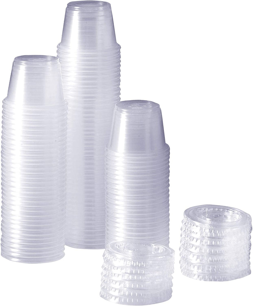 1oz Spill-Proof Cups with snap on lids [50 Sets] - Tipsy Topple