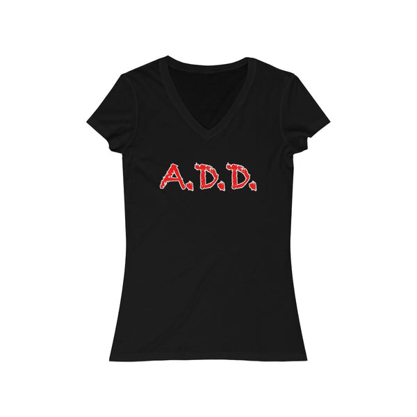A.D.D. - Women's Jersey Short Sleeve V-Neck Tee