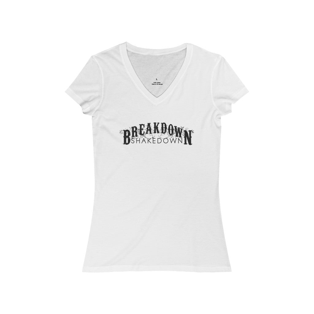 Breakdown Shakedown - Women's Jersey Short Sleeve V-Neck Tee