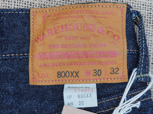 Warehouse & Co. 800XX selvedge jeans (One wash)