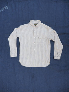 Orgueil stripe shawl collar shirt 5007E