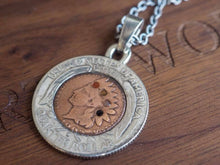 Load image into Gallery viewer, North works nickel coin necklace