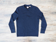 Load image into Gallery viewer, Levi's waffle Henley tee - Navy
