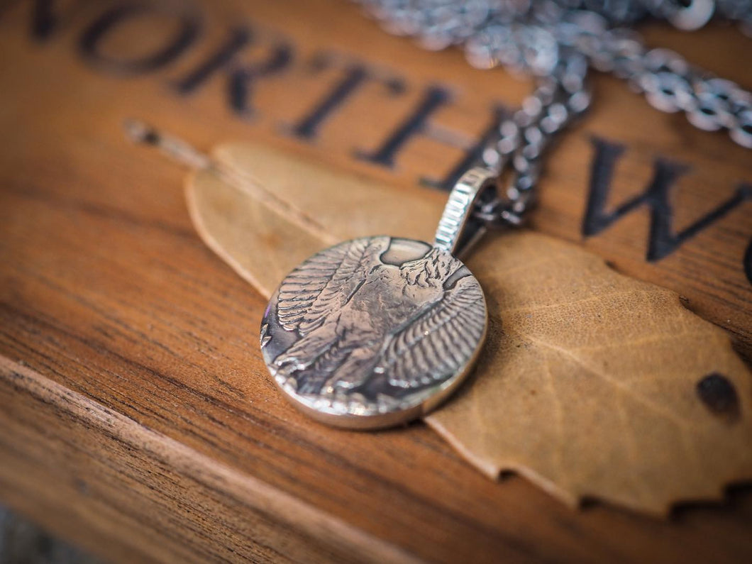 Orgueil x North works OR-7160B Morgan coin pendent