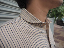 Load image into Gallery viewer, Orgueil stripe shawl collar shirt 5007E