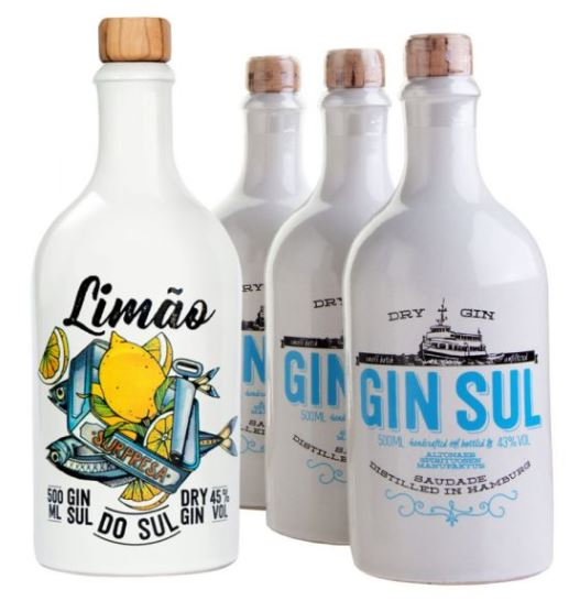 Limited Edition Limao do Sul mit 3 Flaschen Gin Sul