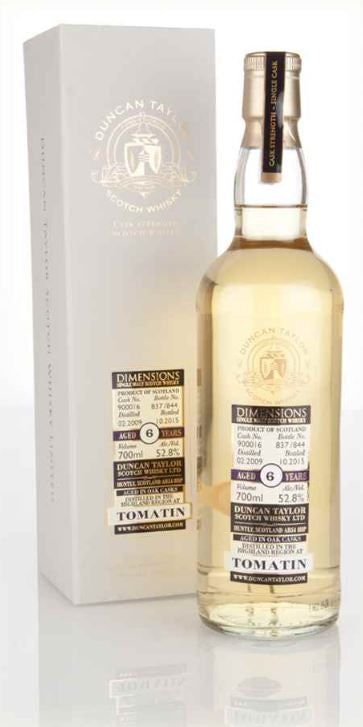 Tomatin 6 Year Old Dimensions Whisky, 700ml