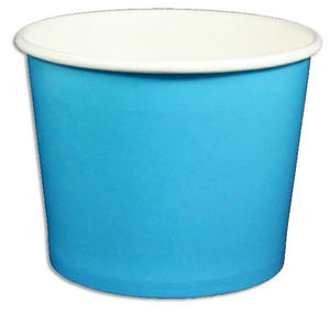 12 oz Solid Blue Ice Cream Paper Cups - 1000ct