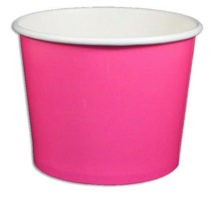 12 oz Solid Pink Ice Cream Paper Cups - 1000ct