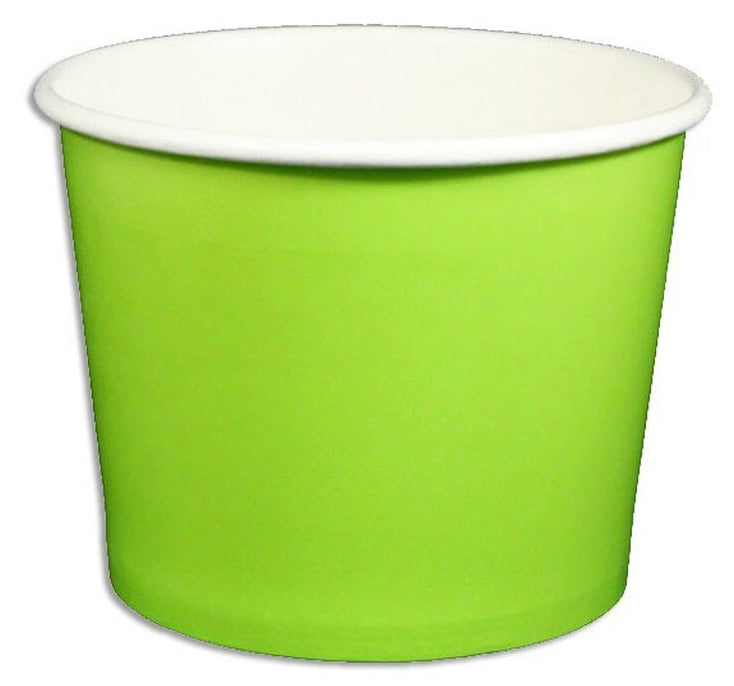 12 oz Solid Green Ice Cream Paper Cups - 1000ct