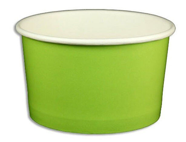 5 oz Solid Green Ice Cream Paper Cups - 1000ct