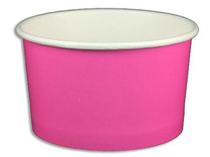 5 oz Solid Pink Ice Cream Paper Cups - 1000ct