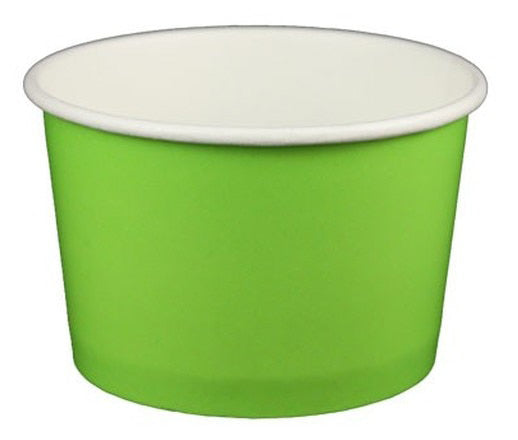 4 oz Solid Green Ice Cream Paper Cups - 1000ct