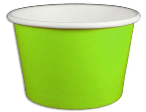 8 oz Solid Green Ice Cream Paper Cups - 1000ct