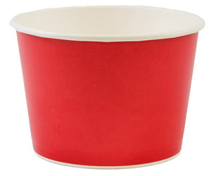 12 oz Solid Red Ice Cream Paper Cups - 1000ct