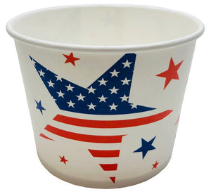 16 oz 4th of July Print Ice Cream Paper Cups - 1000ct