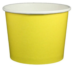 16 oz Solid Yellow Ice Cream Paper Cups - 1000ct