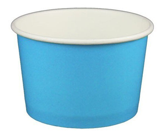 4 oz Solid Blue Ice Cream Paper Cups - 1000ct
