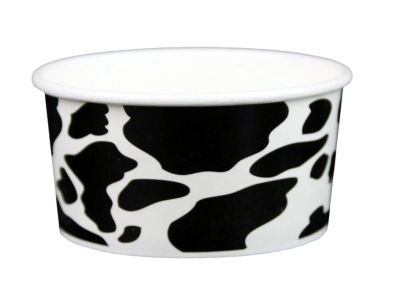 6 oz Cow Print Ice Cream Paper Cups - 1000ct