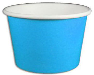8 oz Solid Blue Ice Cream Paper Cups - 1000ct