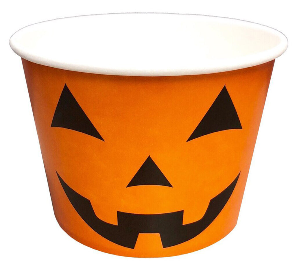 16 oz Happy Halloween Print Ice Cream Paper Cups - 1000ct