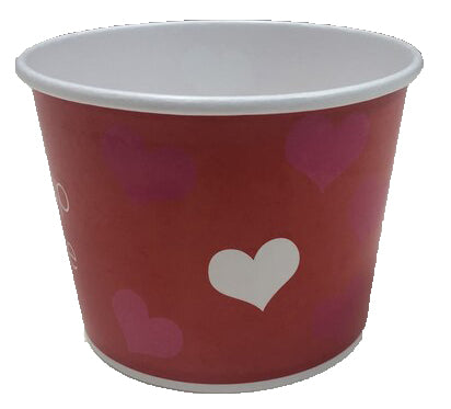 16 oz Valentines Day Ice Cream Paper Cups - 1000ct