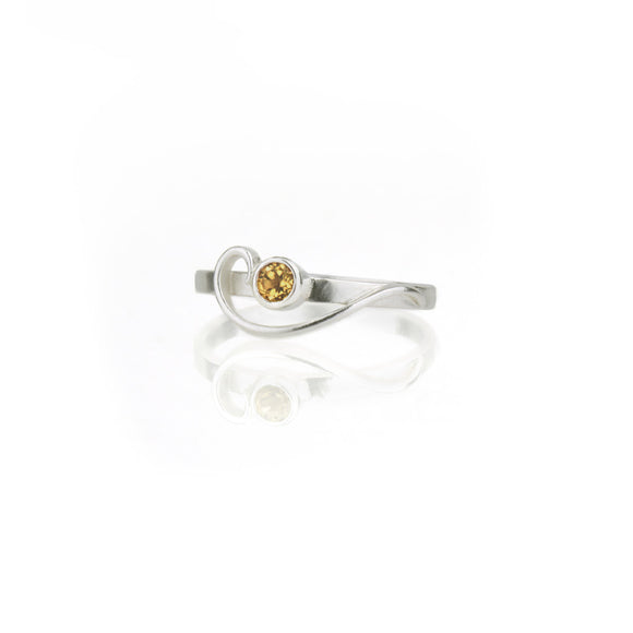 Arabesque Ring with Citrine