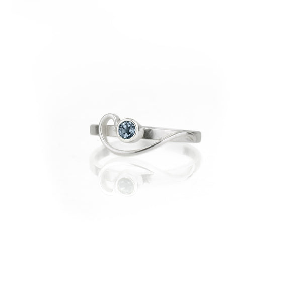 Arabesque Ring with London Blue Topaz