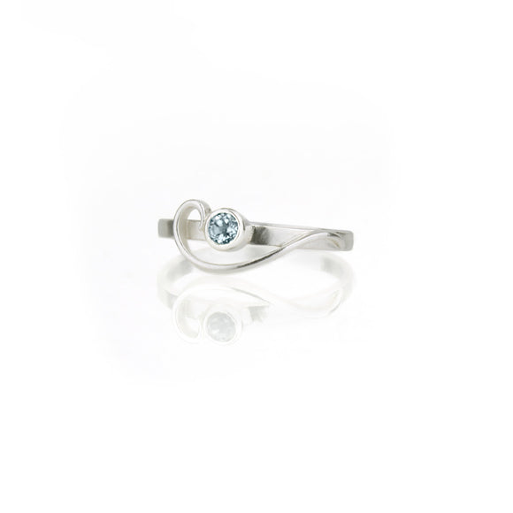 Sample Sale: Arabesque Ring with Sky Blue Topaz