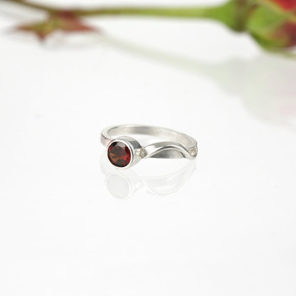 Sample Sale: Cascade Ring with 5mm Garnet
