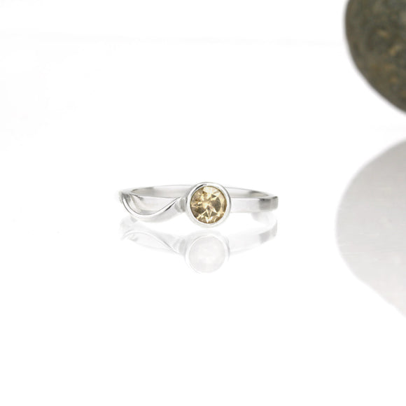 Sample Sale: Cascade Ring with 5mm Citrine