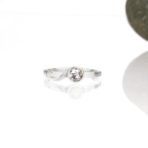 Sample Sale: Cascade Ring with 5mm White Topaz