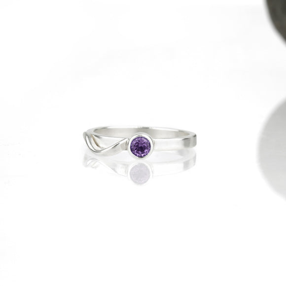 Cascade Ring with Amethyst