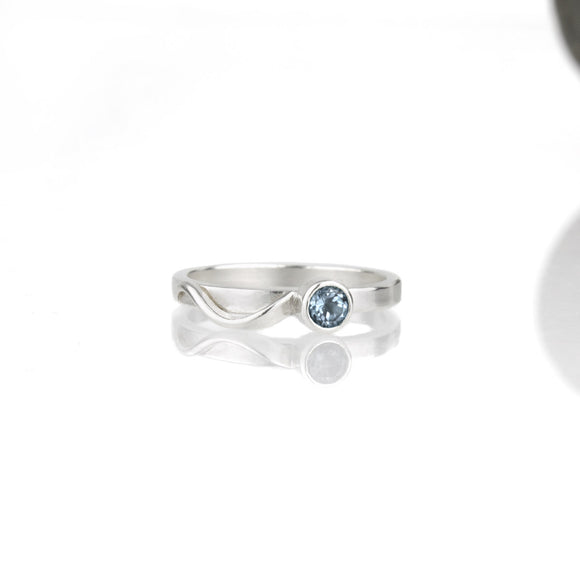 Cascade Ring with London Blue Topaz