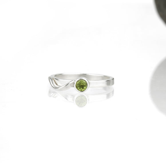Cascade Ring with Peridot
